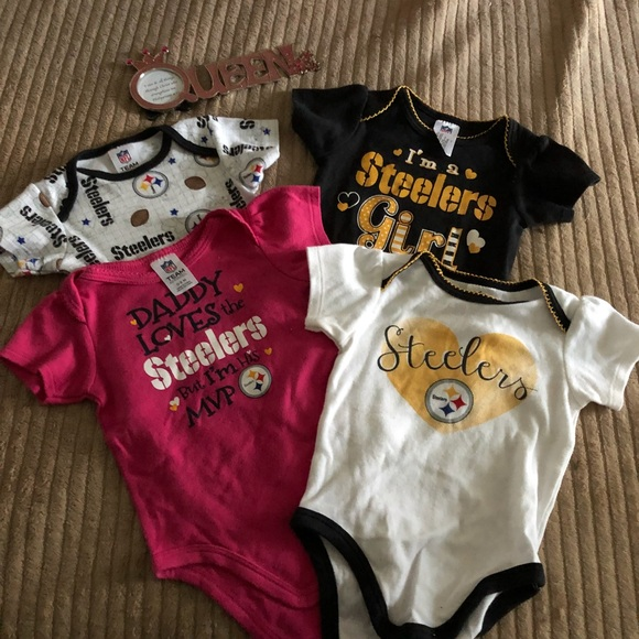 Bodysuits Pittsburgh Steelers 2018 Girls 3 pk